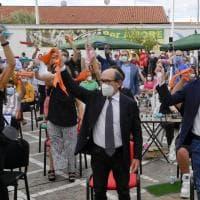 Casal di Principe, flash mob anticamorra, riconoscimenti ed emozioni con l'oncologo Ascierto, il procuratore Cafiero, il ministro Speranza al premio don Diana