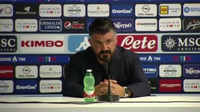 """Napoli, Gattuso: """"Hanno fatto  la partita che volevo""""  / Video     Una magia di Insigne manda ko la Roma"""
