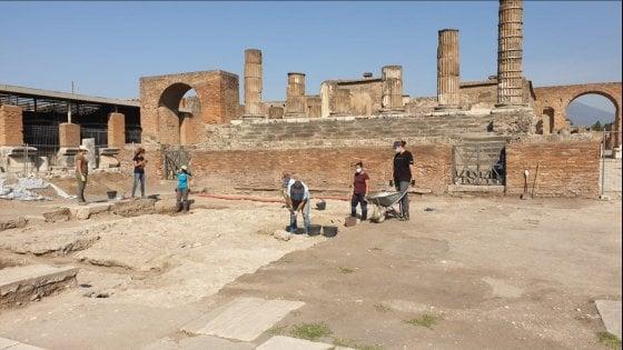 Pompei, si concludono le indagini archeologiche del Foro e del Tempio di Giove
