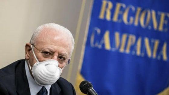 """De Luca: """"Acquistati vaccini antinfluenzali per 4 milioni di campani '"""