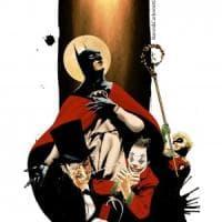 Batman come San Gennaro nel disegno di Baron e Carbonetti