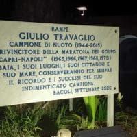 La Capri-Napoli e il Comune di Bacoli ricordano Giulio Travaglio: le scale di Sella di Baia intitolate all'indimenticato campione