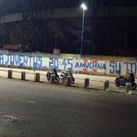"""Striscione fuori al San Paolo: """"Peggior virus si chiama Juve"""""""