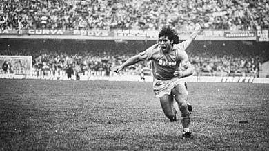 Diego Maradona e quell'esultanza storica