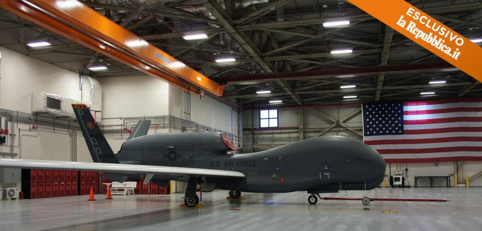 Ecco i droni nell'hangar segreto di Sigonella