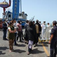 Sbarco di immigrati a Porto Empedocle