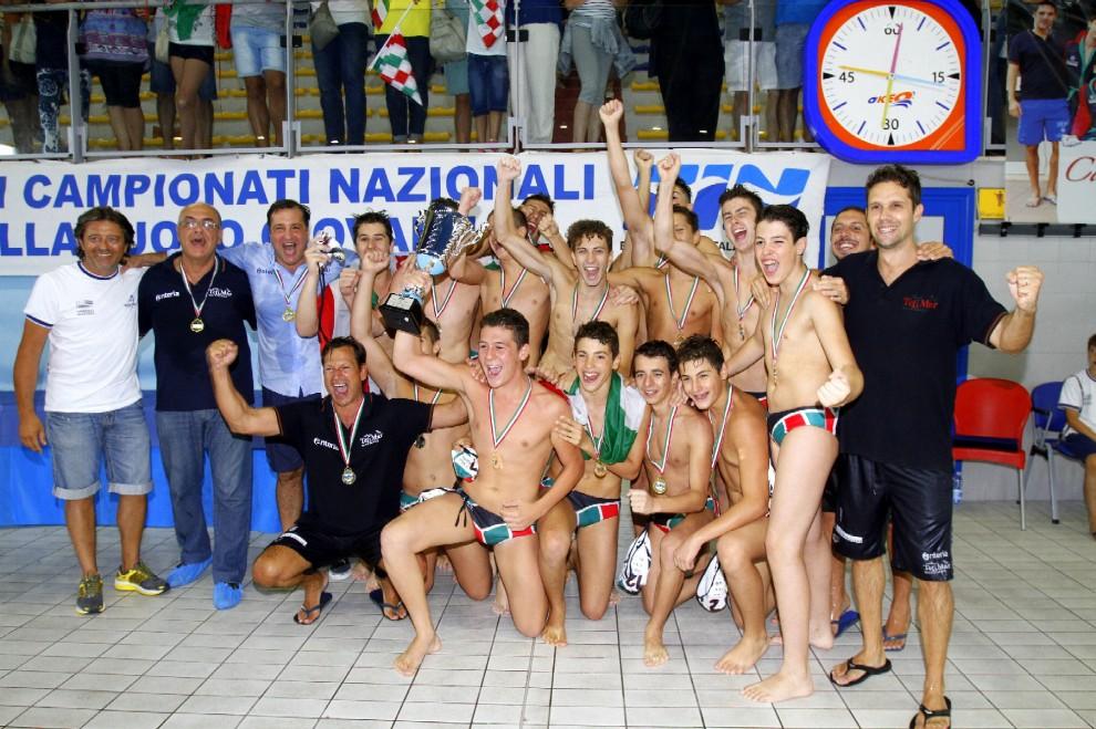 Pallanuoto, Telimar campione d'Italia under 15