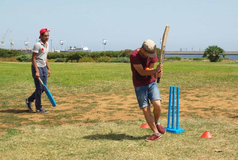 Al Foro Italico si gioca a cricket