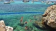 Installate a Favignana  le reti contro le meduse