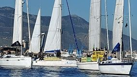 Nel golfo di Palermo  una regata  contro le trivellazioni