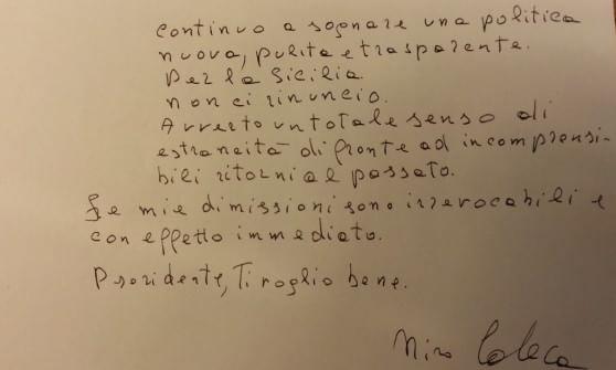 """""""No ai ritorni al passato"""", si dimette l'assessore Caleca. Crocetta pronto a sostituirlo con Sara Barresi"""