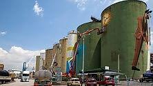 Catania, Street Art Silos il porto cambia volto