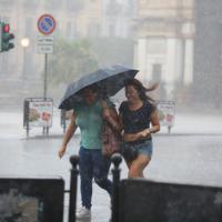 Violento nubifragio su Palermo