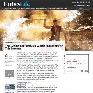 Forbes: il Teatro del Fuoco fra i 12 festival cool del mondo