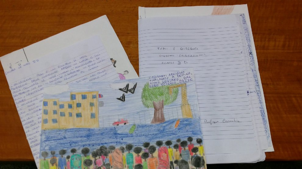 """""""Mai più fuggire"""": migranti nei disegni dei bambini"""