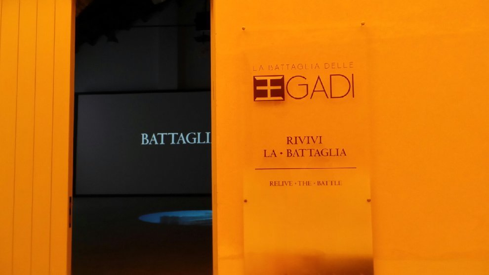Reperti originali e installazione multimediale per rivivere la battaglia delle Egadi