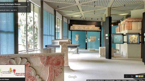 Il museo di Siracusa su Google, le sale si visitano con street view