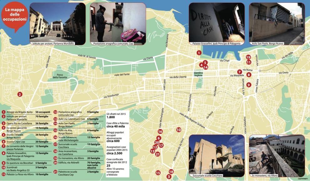 Palestre, scuole, uffici: la mappa delle occupazioni abusive a Palermo