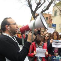 Almaviva, i lavoratori protestano contro i licenziamenti