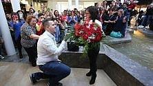 """Palermo: """"Mi vuoi sposare?"""". La richiesta arriva con un dance flash mob"""