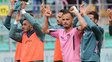 Palermo-Sampdoria, i rosa esultano Due gol allontanano la paura della B