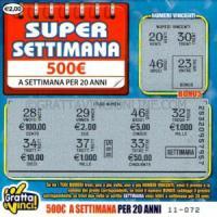 Catania, supervincita da 500 euro a settimana per 20 anni al Gratta e vinci