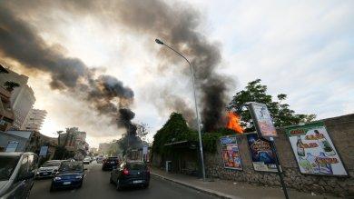 Palermo, a fuoco capannone dello stand Florio di Ernesto Basile