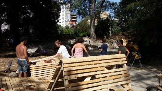 Villa Napoli, rinasce il giardino grazie agli studenti