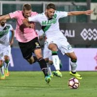 Il Palermo senza attacco ma con buona volontà cede il passo al Sassuolo: 0-1 al Barbera