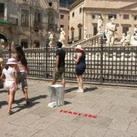 """Thank you"", l'installazione in piazza Pretoria"