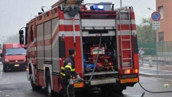 Incendio vicino al poliambulatorio Asp di Trapani