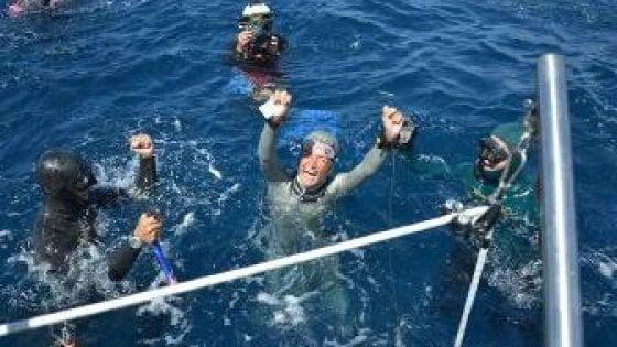 Ustica, nuovo record del mondo in apnea
