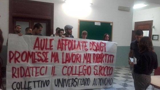 Palermo: protesta degli studenti universitari, occupato collegio San Rocco