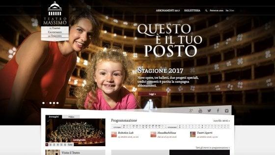 Web tv e app: il teatro Massimo di Palermo sempre più social