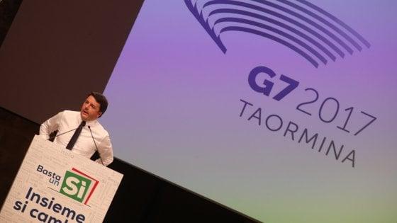 Renzi a Palermo, contestazioni e tensioni