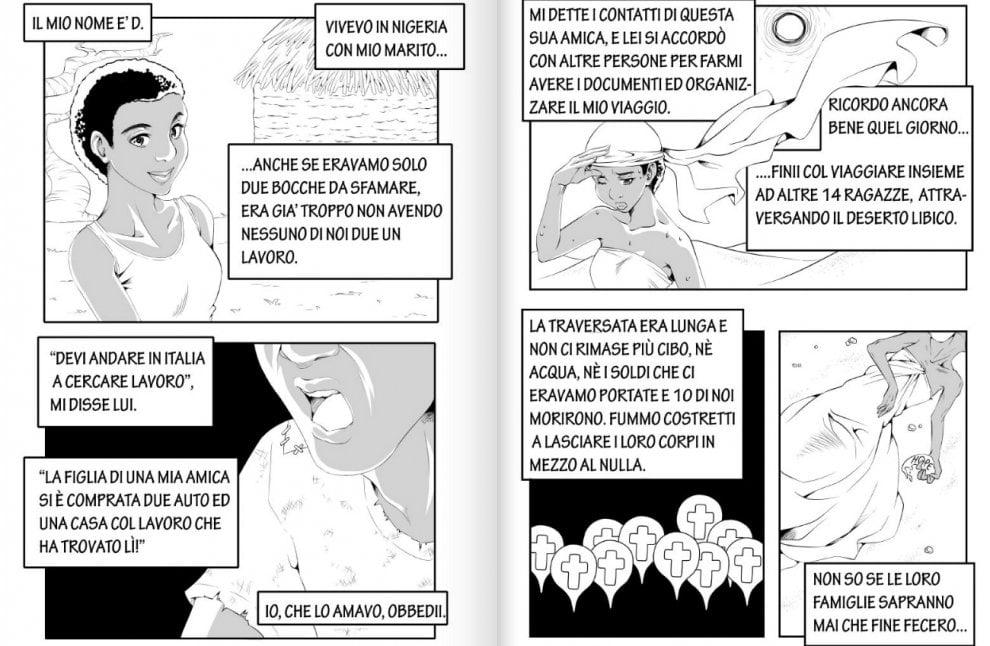 Il fumetto di una studentessa palermitana contro la tratta delle donne
