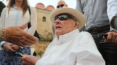 Il magnate Rockefeller a 101 anni  visita il centro storico di Palermo  /foto