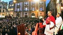 L'omaggio alla Madonna    in piazza San Domenico