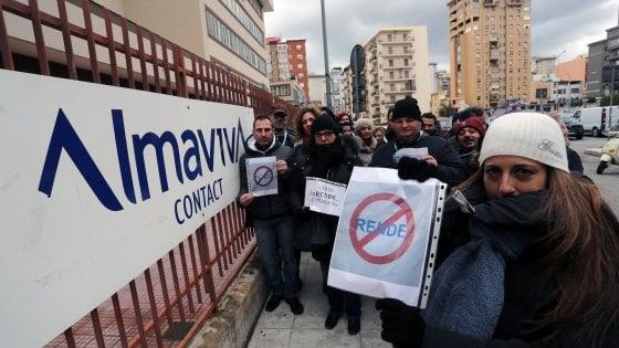 Almaviva: commessa Trenitalia per il call center di Palermo, trasferimenti in bilico