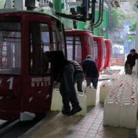 Taormina: si ferma la funivia per Mazzarò. Interventi dopo la frana