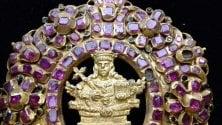 Oro e 132 rubini  per il medaglione  di Sant'Agata
