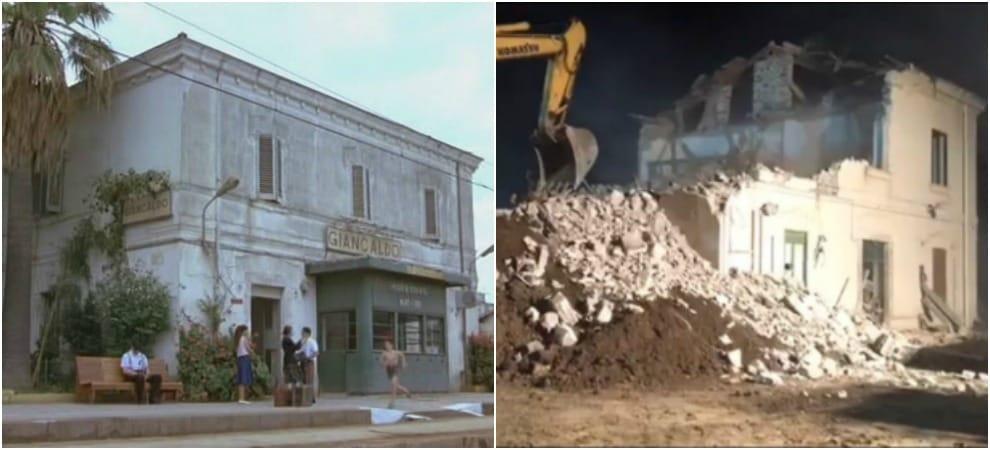 """Lascari, demolita la stazione ferroviaria di """"Nuovo Cinema Paradiso"""""""