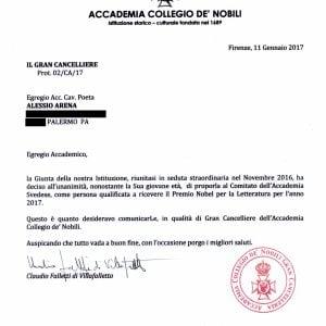 L'Accademia di Firenze candida al Nobel un giovane palermitano
