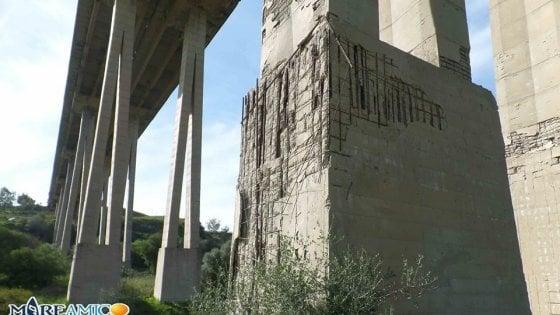 Agrigento: allarme degli ambientalisti, si sgretolano i piloni del viadotto Morandi