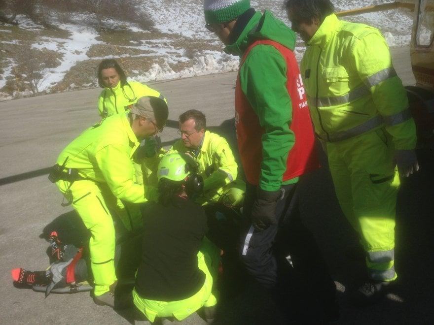 Piano Battaglia: sciatore ferito, soccorso con l'elicottero