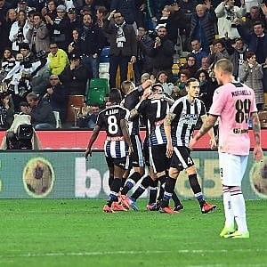 Palermo, solo un'illusione. L'Udinese ne fa quattro
