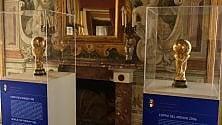 I trofei azzurri   a Villa Niscemi