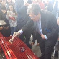A Catania la panchina rossa contro il femminicidio