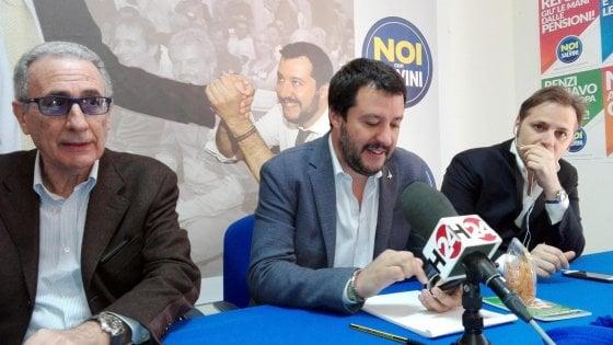 """Salvini a Catania: """"L'Italia si fermi il 2 giurno contro l'invasione di migranti"""""""