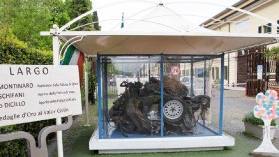"""Strage Capaci, """"Quarto Savona 15"""": l'auto di scorta di Falcone a Palermo 25 anni dopo"""